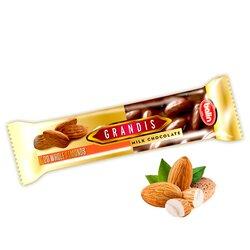 """Молочный шоколад с цельным миндалем премиум класса """"GRANDIS"""", 80 гр"""