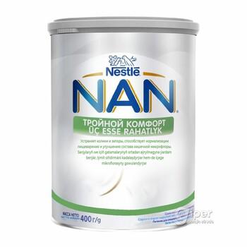 Детская молочная смесь NAN Tройной комфорт, с рождения, 400 г