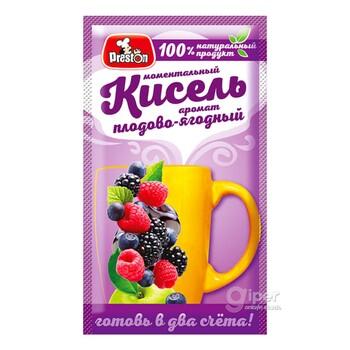 Моментальный Кисель Preston с плодово-ягодным ароматом, 30 г