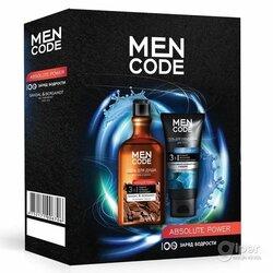 Подарочный набор для мужчин MEN CODE гель для душа 300 мл + гель для умывания 150 мл