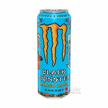 """Напиток безалкогольный тонизирующий (энергетический) газированный """"Monster black Mango Loco"""" со вкусом манго, 0.449 л"""