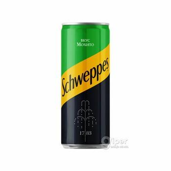 """Напиток безалкогольный газированный """"Schweppes"""" Мохито, 0.33 л"""