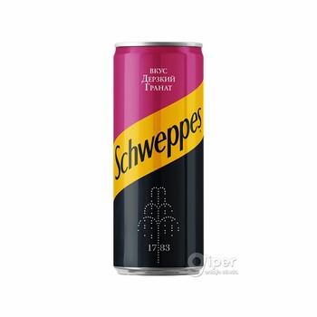 """Напиток безалкогольный газированный """"Schweppes"""" Дерзкий Гранат, 0.33 л"""