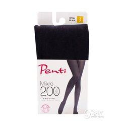 """Колготки """"Penti"""" Mikro, 200 den, черные, размер L, 3636"""