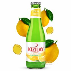 Газированный минеральный напиток KIZILAY со вкусом лимона, 200 мл