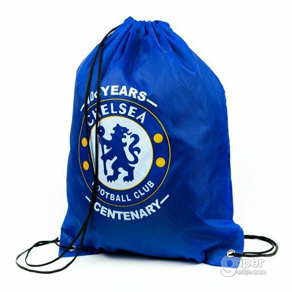 """Рюкзак-мешок на затяжках """"Chelsea"""" 41 x 33 см, синяя"""