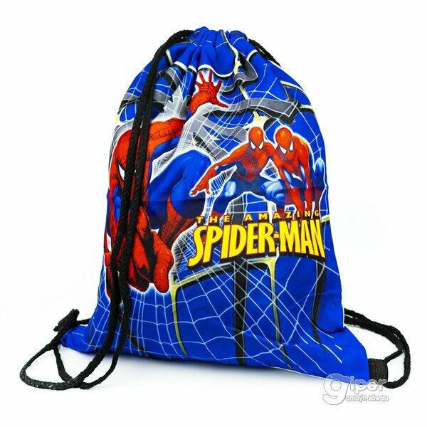 """Рюкзак-мешок на затяжках """"Spider-man"""" 41 x 33 см"""