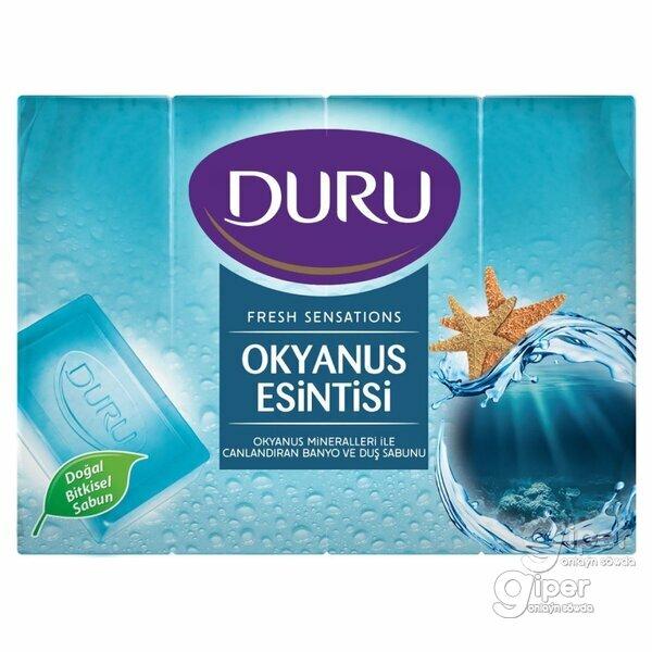 """Мыло """"DURU Fresh Sensations"""" Океанский бриз (4х150г) 600 Г"""