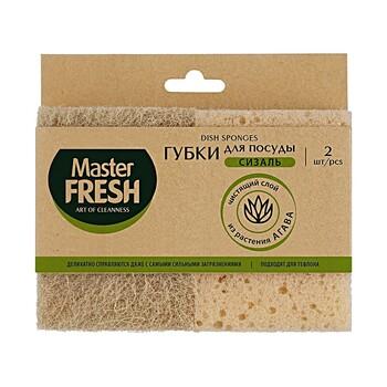 Губки для посуды Master Fresh из агавы XXL, 2 шт