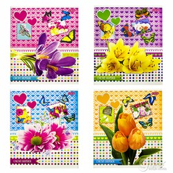 "Общая тетрадь ""YaLong"" Flower&Butterfly, 48 листов в клетку (1шт)"