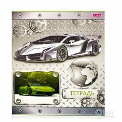 """Общая тетрадь """"YaLong"""" Silver Car, 48 листов в клетку"""
