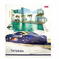 """Общая тетрадь """"YaLong"""" Cities&Cars, 96 листов в клетку"""