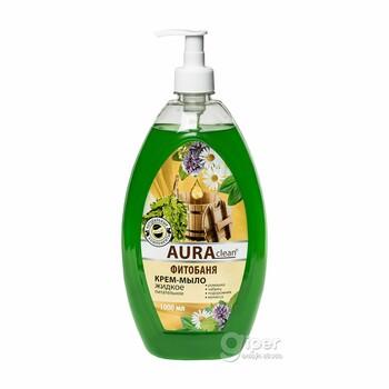 """Жидкое крем-мыло """"AURA"""" питательное Фитобаня, 1000 мл"""