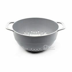 Дуршлаг кухонный пластиковый 17х17 см, серый (BEH)