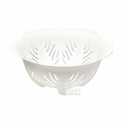 Дуршлаг кухонный пластиковый в форме цветка 25x25 см, белый (BEH)