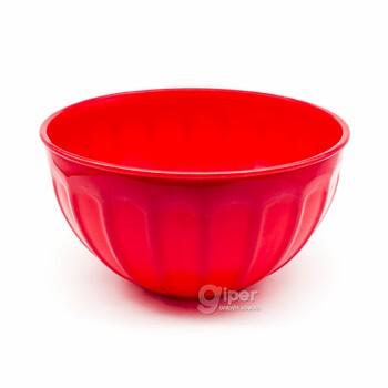 Пластиковая чаша салатница 3 л, красная (BEH)
