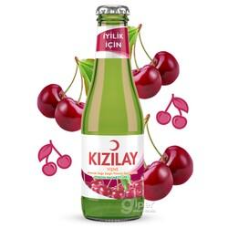 Газированный минеральный напиток KIZILAY со вкусом вишни, 200 мл