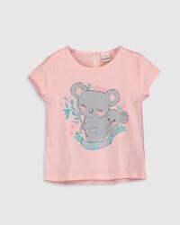 Розовая футболка, 9-12 месяцев